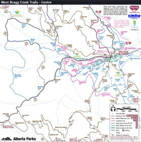 Centre Bragg Creek trails map