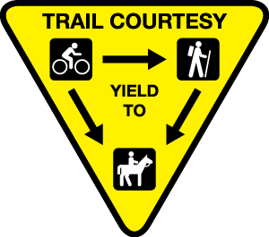 Trail Etiquette sign